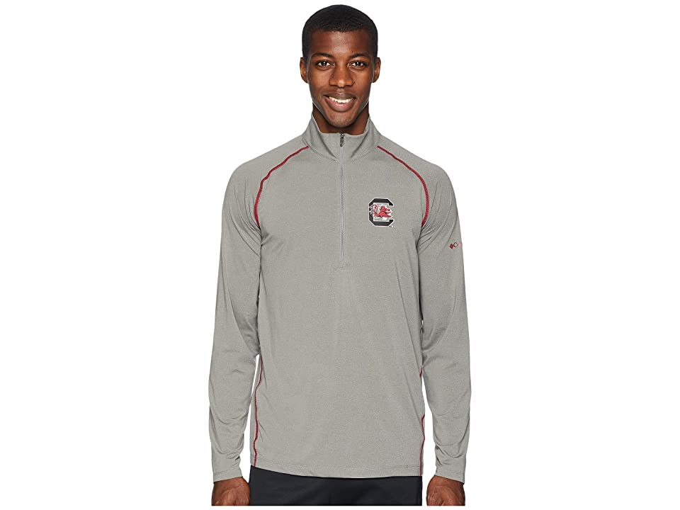 Columbia Collegiate Tuk Mountaintm 1/2 Zip Shirt (South Carolina/Boulder/Beet) Men