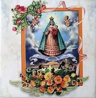 Virgen de La Caridad del Cobre Patrona de Cuba Placa de Porcelana Tres Estilos a Escojer