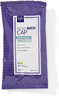 Medline ReadyBath Scented Rinse-Free Shampoo Cap with Conditioner, 30 Count - MSC095230