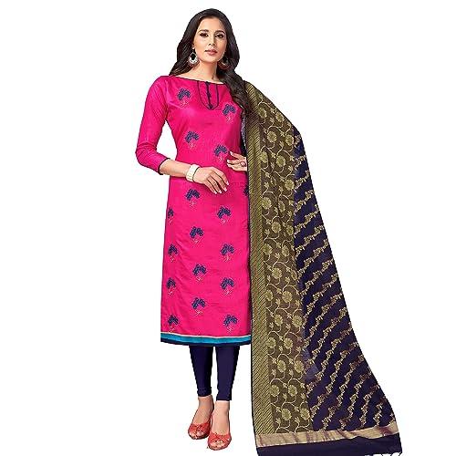 2469d1c40a Viva N Diva Salwar Suit Dupatta For Women's Banarasi Art Silk Woven  Un-Stitched Dress