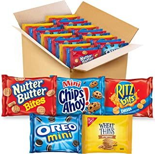 OREO Mini Cookies, Mini CHIPS AHOY! Cookies, RITZ Bits Cheese Crackers, Nutter Butter Bites & Wheat Thins Crackers, Nabisc...