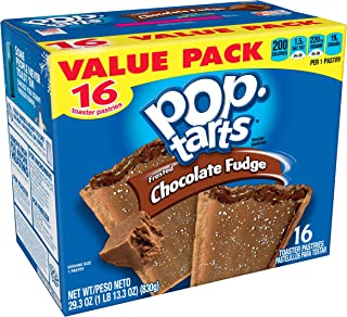 Pop-Tarts Breakfast Toaster Pastries, Frosted Chocolate Fudge Flavored, Value Pack, 29.3 oz (16 Count)(Pack of 8)