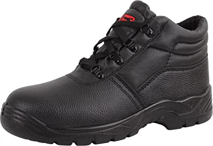 Blackrock Black Leather Work Safety Chukka Boots With Steel Toe Caps And Midsole (UK 9/EURO 43) : boots