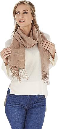 e0cb7ab6b1 Premium Golden Style Design Fashion Scarf and Shawl - Pashmina 4 Season  Luxury Wrap - 26