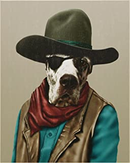 Empire Art Direct Pets Rock Cowboy Graphic Wrapped Dog Canvas Wall Art, 20