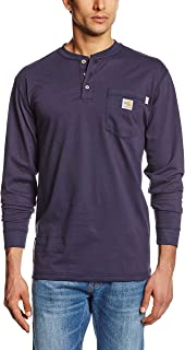 Men's Flame Resistant Force Cotton Long Sleeve Henley