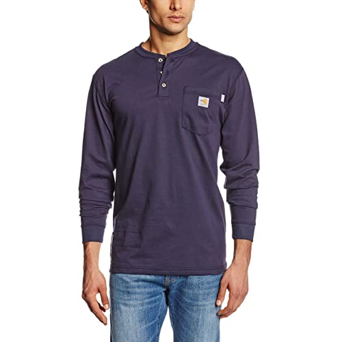 4524f292ab30 Carhartt Men s Flame Resistant Force Cotton Long Sleeve Henley