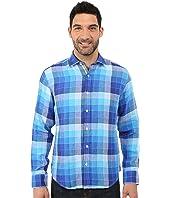 BUGATCHI - Piebmonte Shaped Fit Long Sleeve Woven Shirt