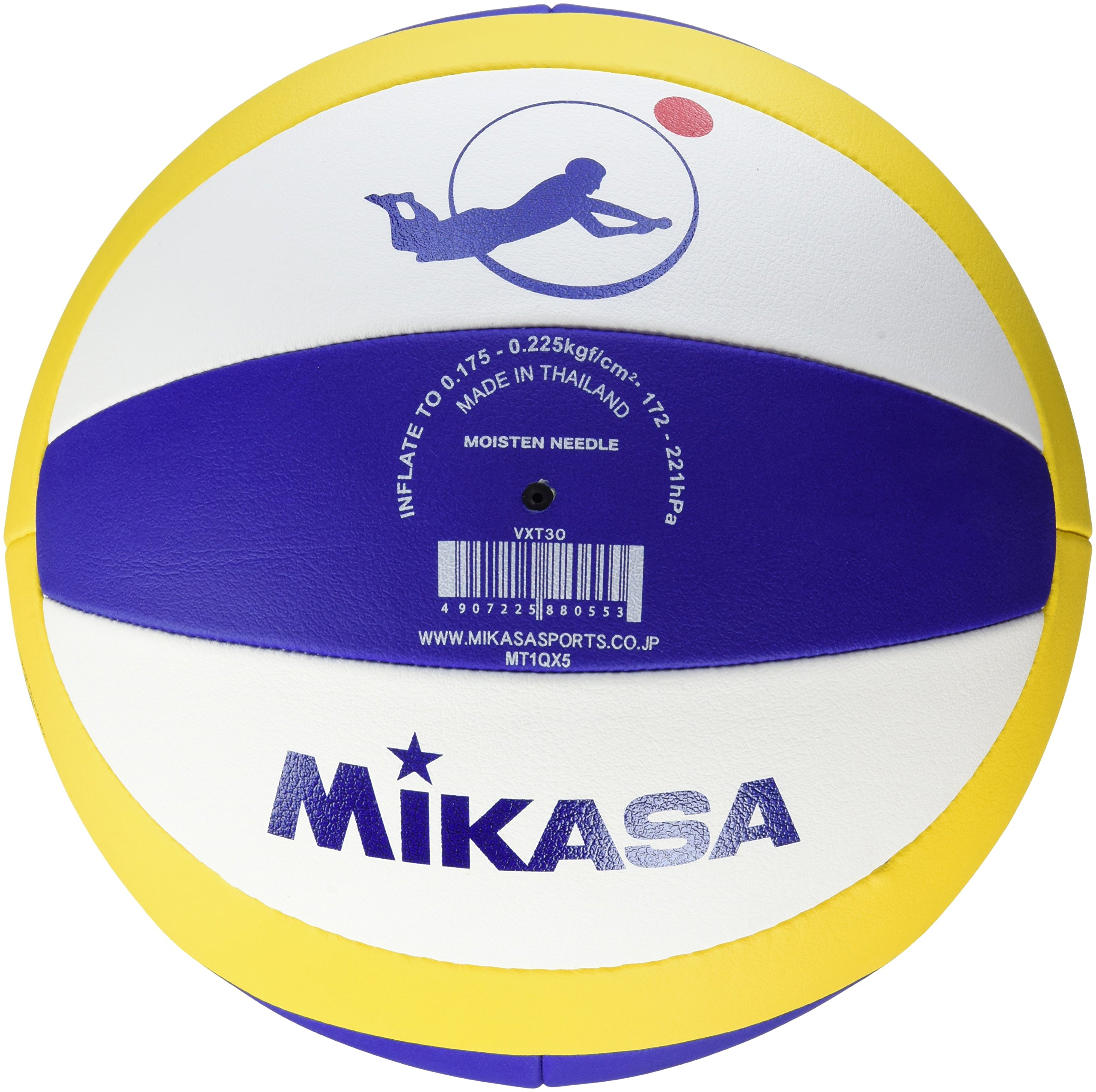 MIKASA VXT30 Beach Champ DVV - Pelota para Volley Playa, Color ...