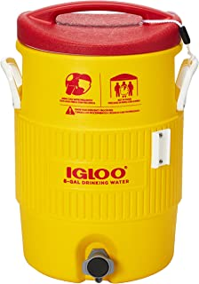 Igloo 385-48153 Heat Stress Solution Water Coolers, 5 gal, Red/Yellow