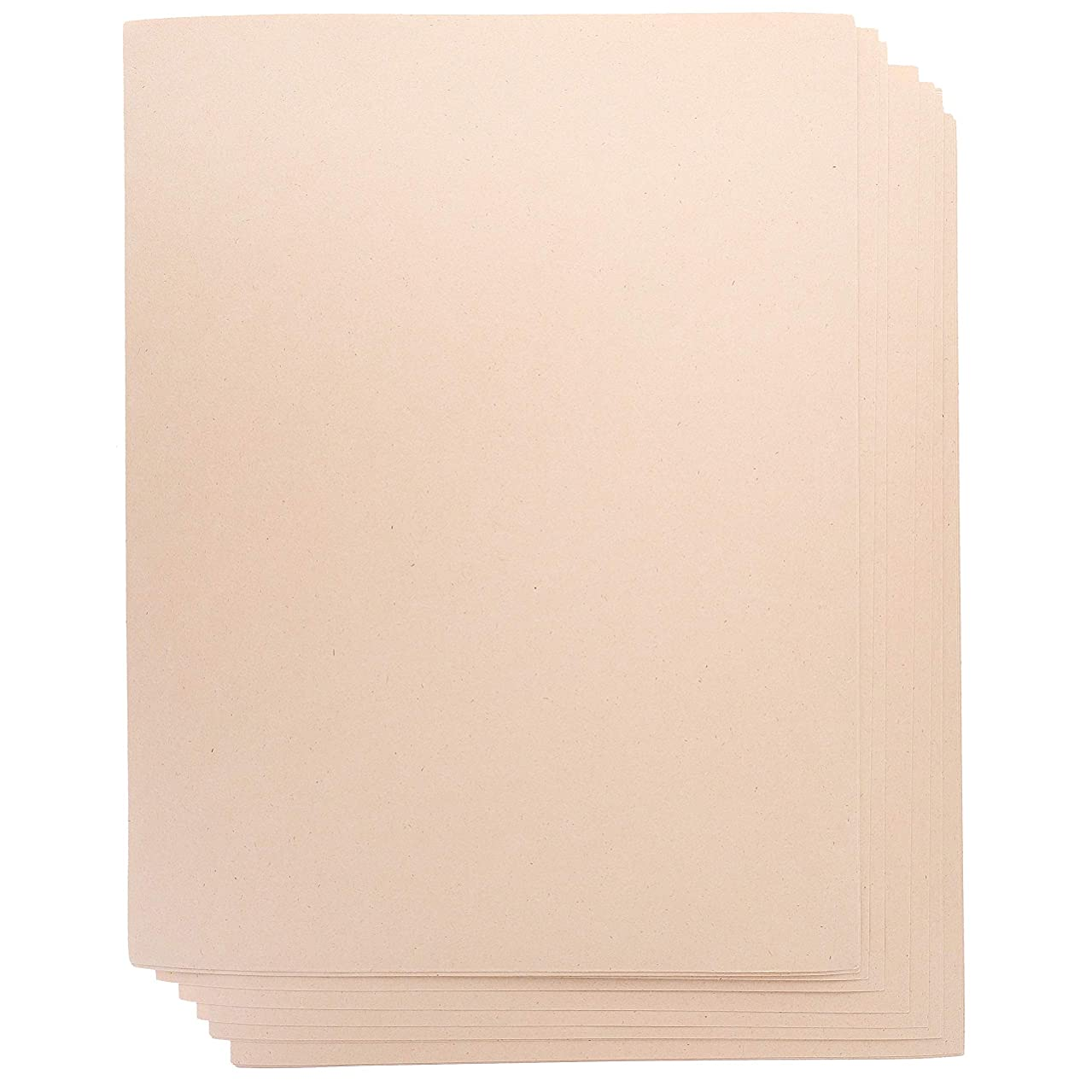 Juvale 100-Count Japanese Kraft Paper Stationery Sheets for Crafts, and Scrapbooking, Printer Friendly, Pastel Peach, 8.5 x 11 Inches