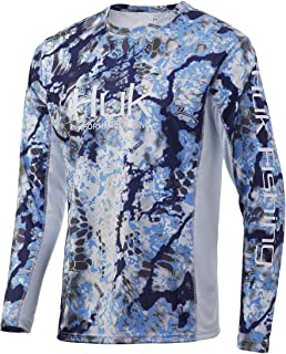 HUK Mens Kryptek Icon X Long Sleeve | Long Sleeve Performance Fishing Shirt with +30 UPF Sun Protection & Reflective Coating