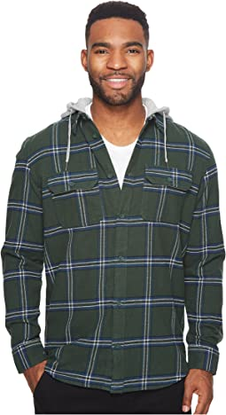 DC - Runnel Long Sleeve Hooded Flannel Top