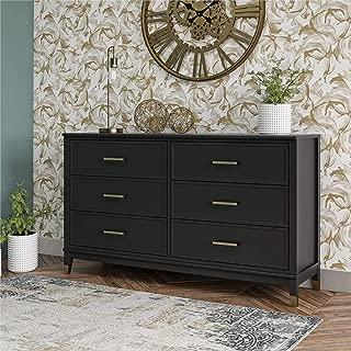 CosmoLiving by Cosmopolitan Westerleigh 6 Drawer, Black Dresser,