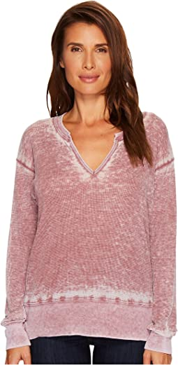 Allen Allen - Pebble Thermal Split-Neck Top