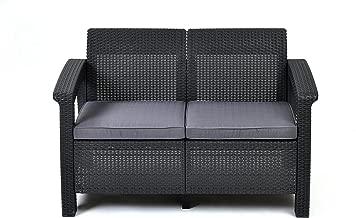 Keter 205069 Corfu Love Seats, Grey