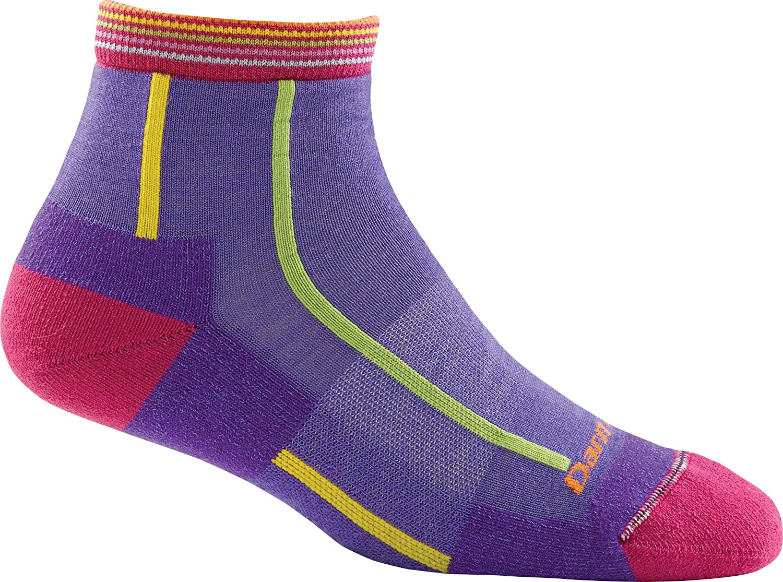 Darn Tough Bermuda Stripe Quarter Height Light Cushion Sock  Women's