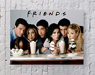 LLp Friends Poster Standard Size | 18-Inches by 24-Inches | Friends Milkshake Wall Poster Print