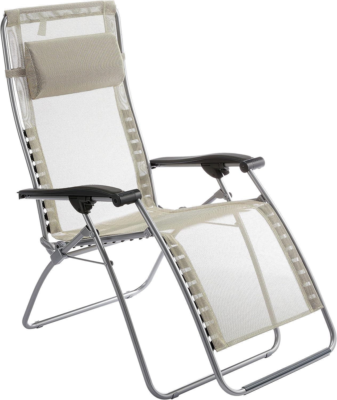 Lafuma Relax-Liegestuhl, Klappbar und verstellbar, RSXA CLIP Batyline, Seigle (Beige), LFM1794-3466