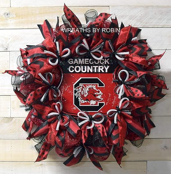 Gamecocks College Wreath South Carolina Sports Wreath Gamecocks Wreath College Wreath Back To School Decor SEC Decor 4042