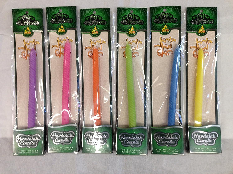 Omaha Mall Tampa Mall Havdallah Candles Set of Mixed Colors 6