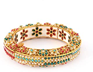 Bangles 22k Gold Plated Design Handmade Light Weight jadau meenakari Antique rajwada Traditional Royal Rajasthani Ethnic f...