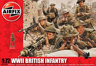 Airfix A01763 WWII British Infantry Northern Europe Model Building Kit, 1:72 Scale