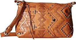 American West Nomad Heart Zip Top Crossbody