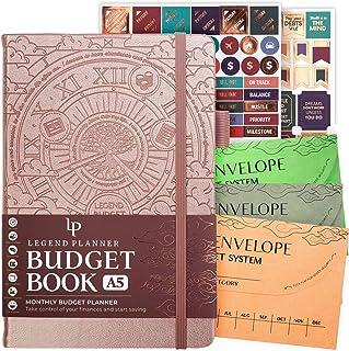 Legend Budget Book - Colorful Budget Planner & Money Organizer + 3 Cash Envelopes. Expense Tracker Notebook & Finance Acco...