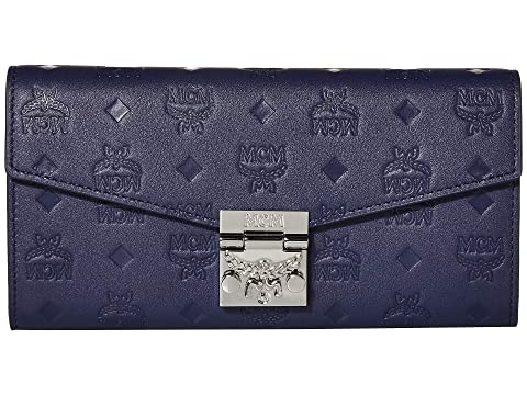 MCM Patricia Monogrammed Leather Flap Wallet/Two-Fold Large