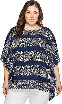Plus Size Quinn Stripe Flutter Top