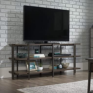 """Sauder North Avenue Credenza, for TVs up to 54"""", Smoked Oak"""