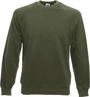 Fruit of the Loom Men's Raglan Sleeve Crew Neck Sweatshirt