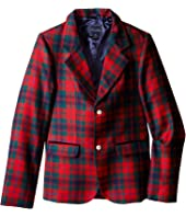 Oscar de la Renta Childrenswear Holiday Plaid Wool Blazer (Toddler/Little Kids/Big Kids)