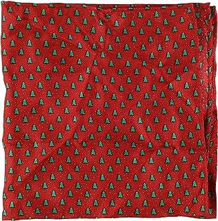 Tommy Hilfiger Mens Mini Stripe Pocket Square Red