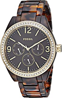 Fossil Women's Caleigh Glitz and Resin Casual Quartz Watch