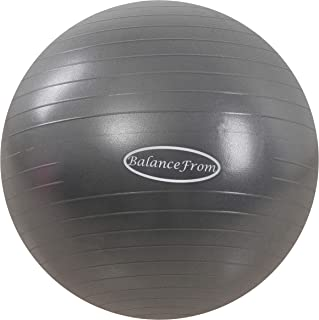 BalanceFrom Anti-Burst and Slip Resistant Exercise Ball Yoga Ball Fitness Ball Birthing Ball with Quick Pump, 2, 000-Pound Capacity