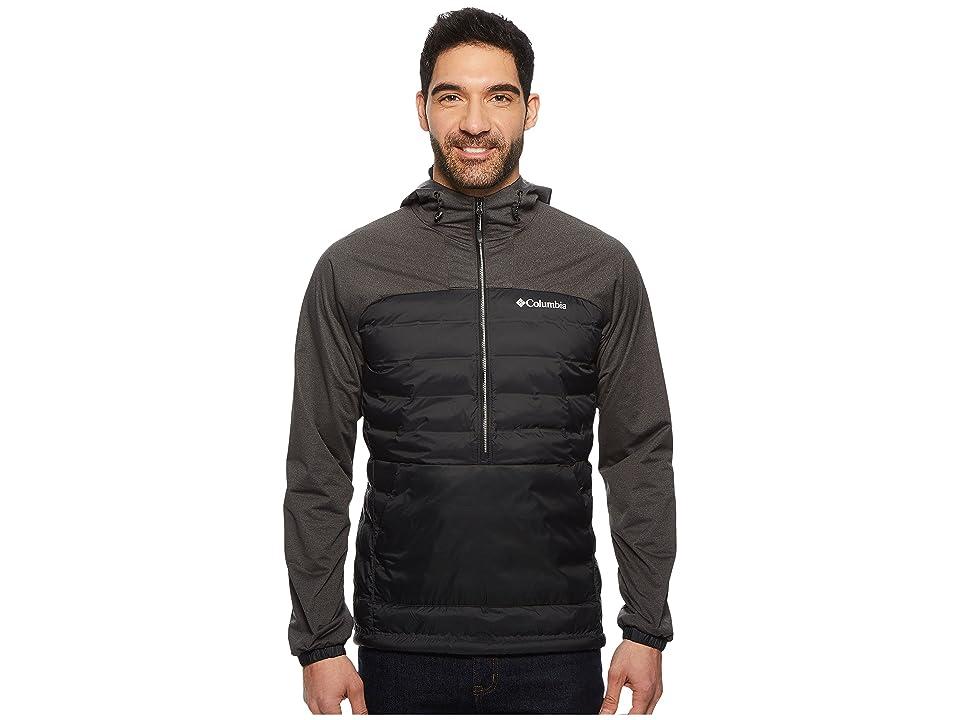 Columbia Bonus Mile Hybrid Pullover (Black/Black Heather) Men