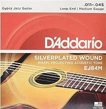 D'Addario EJ84M Gypsy Jazz Acoustic Guitar Strings, Loop End, Medium, 11-45