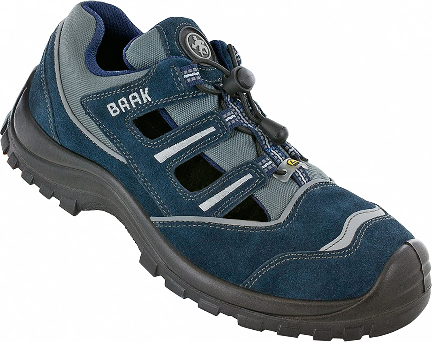Baak Safety shoes Pit Sports S1P ESD Non-Slip bluee shoes In 7013, 50 EU, bluee - EN safety certified