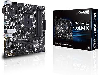 ASUS Prime B550M-K AMD AM4 (الجيل الثالث) لوحة الأم الصغيرة (RRIzenTM) (PCIe 4. 0، ذاكرة ECC، 1 جيجا بايت LAN، Dual M.2، U...