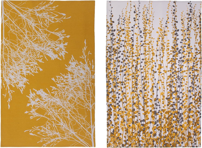 Ulster Weavers Clarissa Hulse CH Cotton Yellow Fynbos Industry Kansas City Mall No. 1 Towel Tea