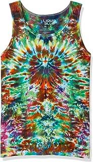 Liquid Blue womens Crazy Krinkle Tie Dye Tank Top T-Shirt
