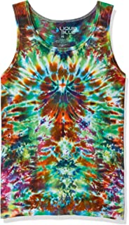 Liquid Blue Crazy Krinkle Tie Dye Tank Top
