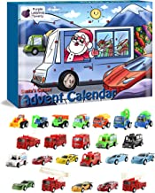 Purple Ladybug Novelty Toy Cars 2019 Advent Calendar for Kids, with 24 Different Pull Back Vehicles Including Race Cars, Construction Vehicles, Fire Trucks & a Fold Down Race Track! Perfect for Boys!