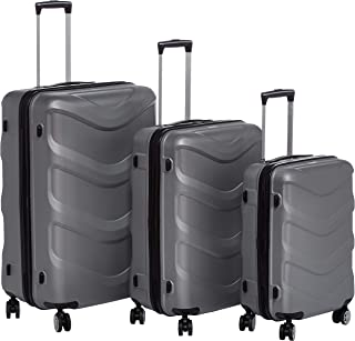 Stractic hard case trolley 3 pcs set with 4 wheel 9705-Silver