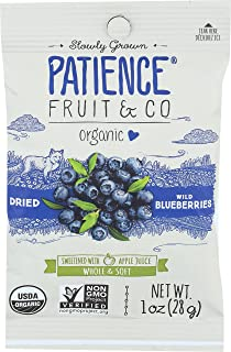 PATIENCE FRUIT & CO, Blubrry, Og2, Drd, Apl Jce, Pack of 15, Size 1 OZ, (Gluten Free Kosher Wheat Free Yeast Free 95%+ Organic)