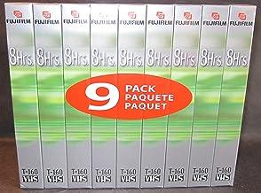 Fuji Film Hq160 Vhs 8 Hours Each Blank Videotape 9 Pack