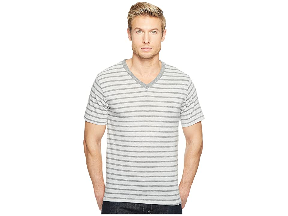Alternative Boss V-Neck (Eco Grey Riviera Stripe) Men