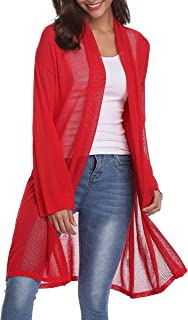 LYHNMW Womens Casual Long Sleeve Open Front Autumn Cardigan Sweater